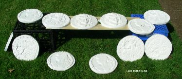 plaster casts drying in sun