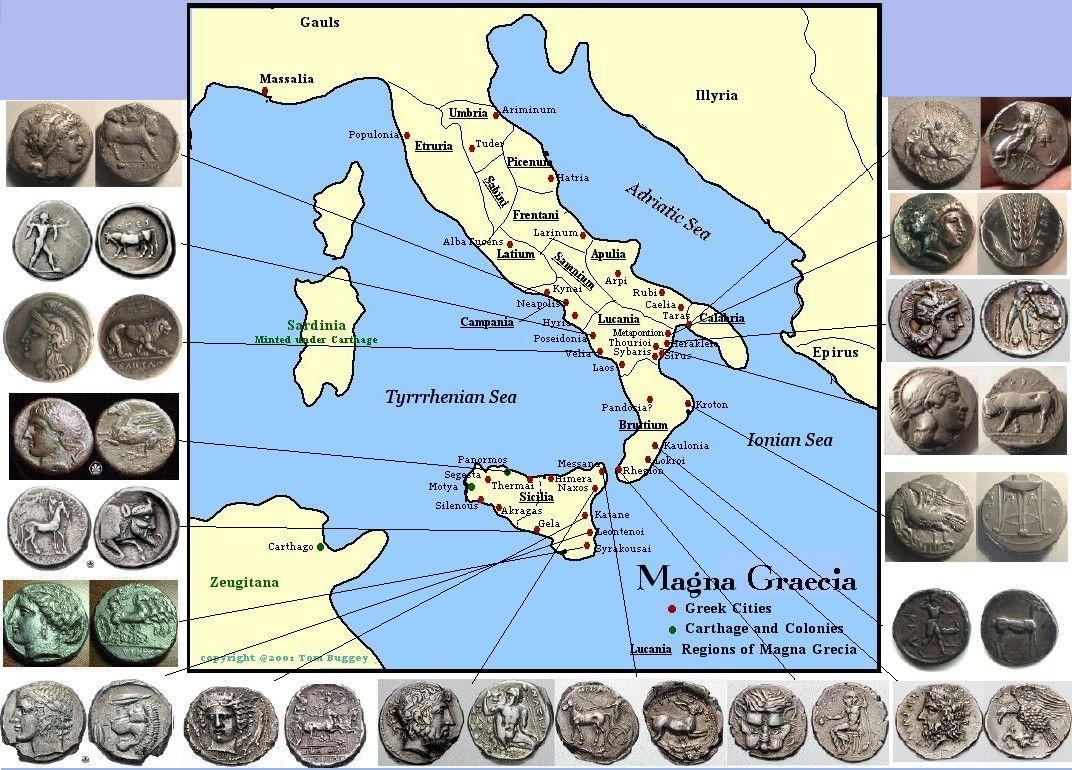 Città della Magna Grecia e loro monete