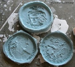 Three molds for casts